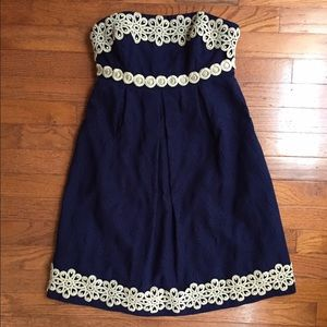 Navy & Gold Lilly Pulitzer Betsey Dress