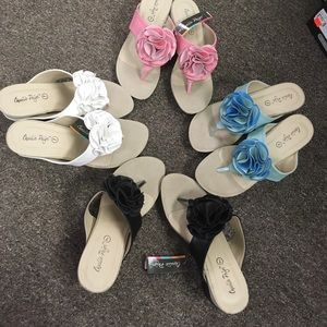 Wedged Flower Sandals - Your choice