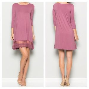 Dresses & Skirts - 🎉🎉HP 10/15, 12/6🎉🎉New- Dress with Lace Hem