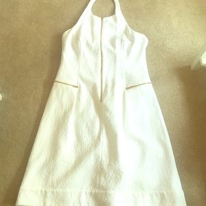 White halter dress Ellen Tracy
