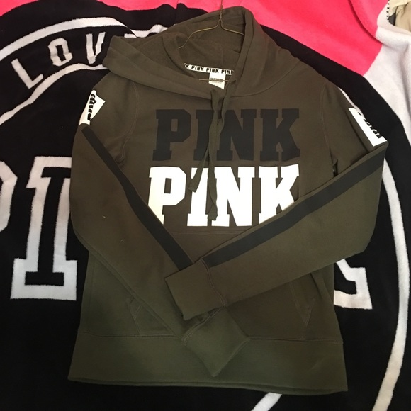 54% off PINK Victoria's Secret Sweaters - Victoria secret olive ...