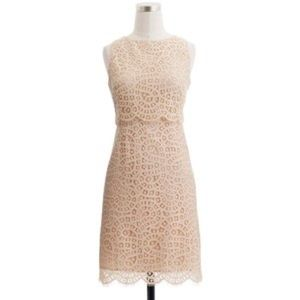 J. Crew tiered shift dress in raindrop lace