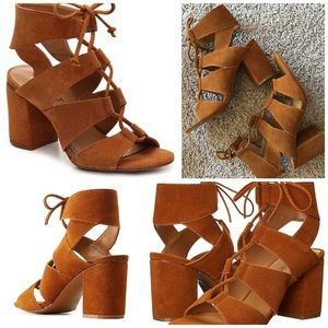 Report suede lace up heels