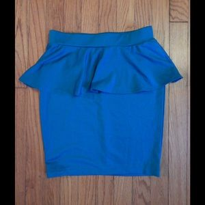 Body Con Teal Peplum Skirt Sz S