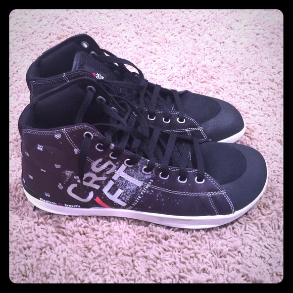 reebok crossfit shoes high top. reebok crossfit men\u0027s high top trainer black 10.5 shoes .