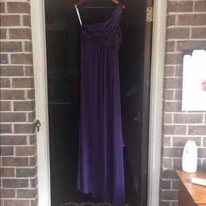 David's Bridal Dresses & Skirts - Size 8 One shoulder purple bridesmaid dress
