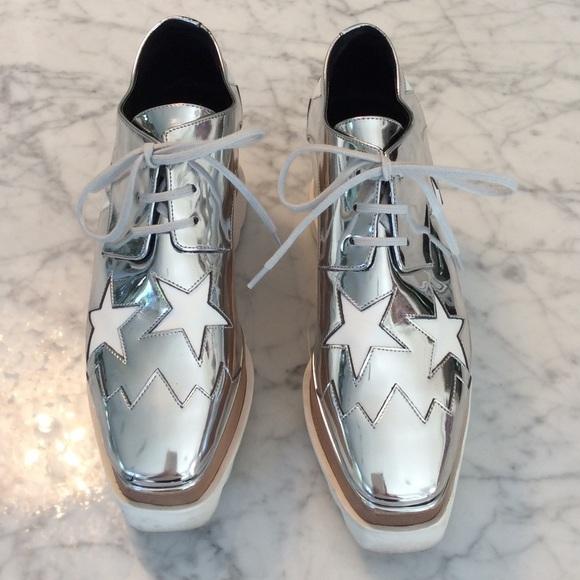 1db909d7246d STella McCartney Elyse Lace-up Silver Star Shoes. M 57e6cbb9a88e7db2c8011eb4