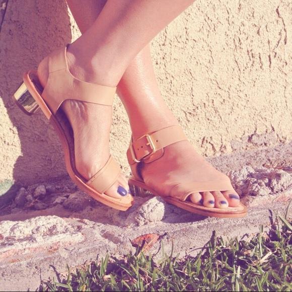 c1447eb06 Sam Edelman Trina Gold Buckle Block Heel Sandals. M 57e6d0fdeaf030cb8a00c7b6