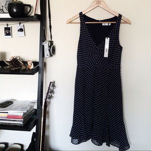 H&M Dresses & Skirts - Navy Blue White Polka Dot Kate Young for Target