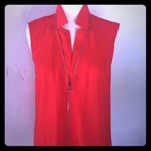 Zipper detail Rachel Roy sleeveless blouse