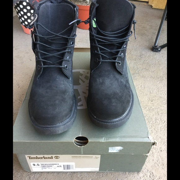 Mens 6 Black Timberland Boots Size 95