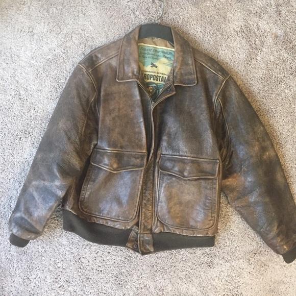 fd725be2d Vintage Leather Aeropostale Jacket