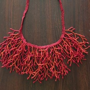 Macy's Jewelry - Coral beaded necklace