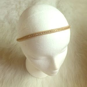 Cara Couture Accessories - Cara Saks 5th Ave Gold Rhinestone Headband