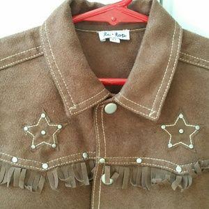 Le Top Other - Le Top | Kids Faux Suede Cowboy Jacket 3T