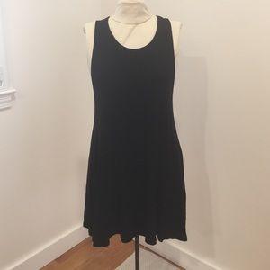 Zara ribbed black tank dress