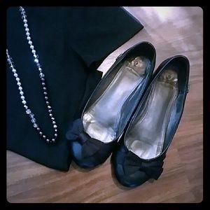 Fergalicious Shoes - Fergalicious by Fergie Black Bow Flats