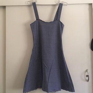 Navy striped skater dress
