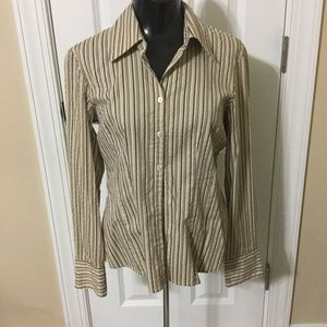 Striped button up blouse