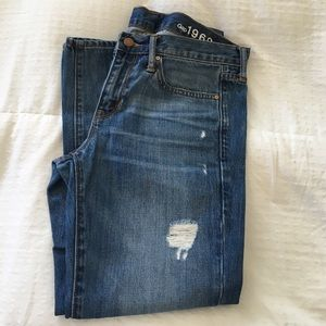 Gap destructed jeans