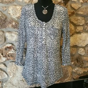 Willi Smith Tops - Misses XL Willi Smith shirt in Navy and White