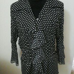 Womans cute polka-dot blouse