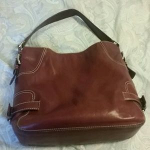 Michael Kors shoulder bag, raspberry/burgundy
