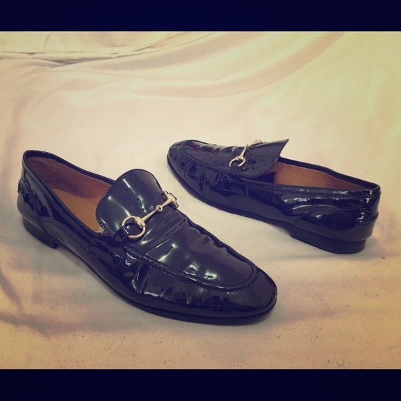 85b363beb Gucci Shoes | Black Patent Leather Horsebit Loafers Shiny | Poshmark