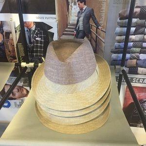 Geoffrey Beene Gentleman Linen Cotton Fedora Hat