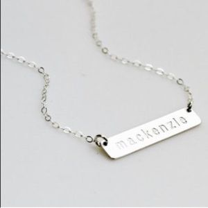 Jewelry - **Host Pick** Personalized Bar Necklace