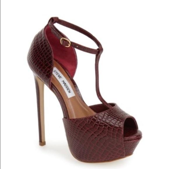 25bbfc61fa29 Steve Madden  Kriminal  Leather Heels (7) NIB