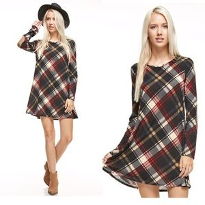 Dresses & Skirts - Plaid Tunic Dress