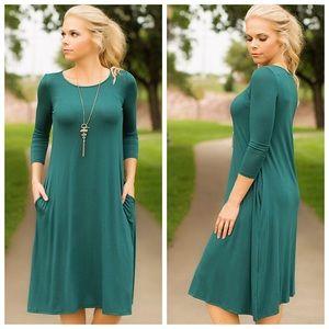 Dresses & Skirts - Fall Tunic Dresses - Black or Teal