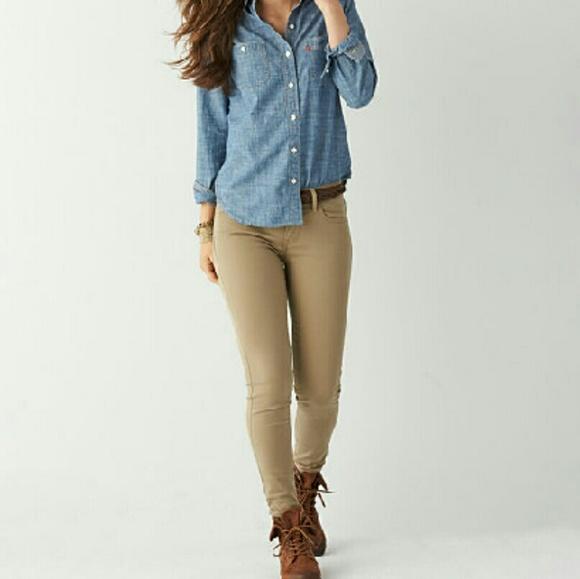 35% off Levi&39s Pants - Levi khaki super skinny jeans from Avery&39s
