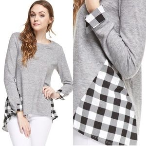 Sweaters - Plaid Sweater/Tunic