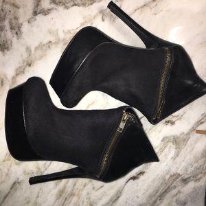 Black Booties with Zipper
