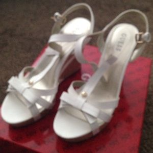Guess Shoes - GUESS white Valene espadrilles 9 M