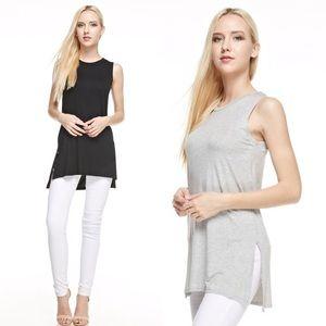 Tops - Gray Layering Tunic Top