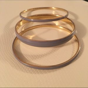 J. Crew Jewelry - 🎉Host Pick! J Crew grey and gold bangles