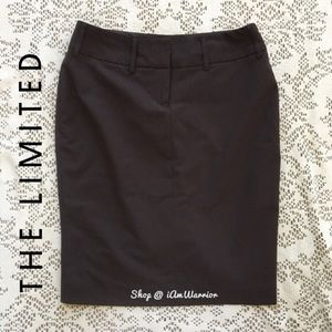 The Limited Dresses & Skirts - The Limited chocolate brown pencil skirt