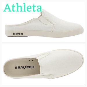 SeaVees Shoes - 💥 New White Vintage Washed Linen slip on shoes 💥