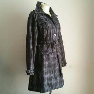 Merona Plaid Trench Coat