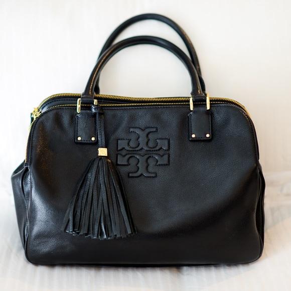 351e55f5880 Tory Burch Thea 3-Zipper Satchel Black. M 57e71448fbf6f9253c015b59. Other  Bags ...