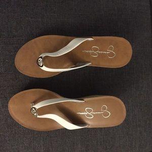 White Jessica Simpson Sandals