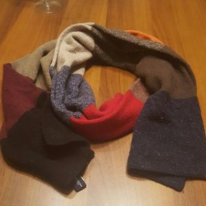 GAP Thick striped lambs wool scarf