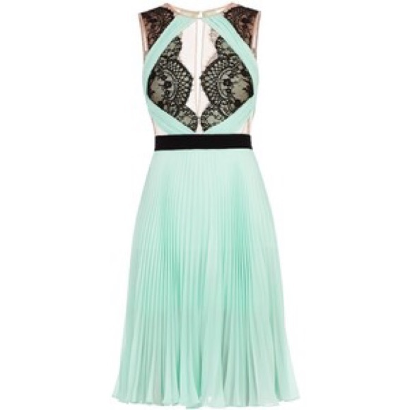 Bcbg green lace dress
