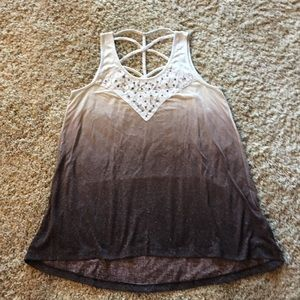 Maurices Tops - Brown ombré tank top