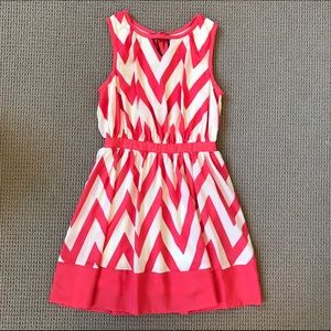 ina Dresses & Skirts - NWT 💕 Coral Chevron Dress