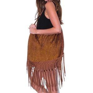 Southern Girl Fashion Handbags - HOBO BAG Faux Suede Oversized Summer Shoulder Tote