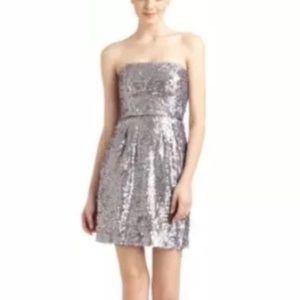 BCBGMaxAzaria Sequin Strapless Sparkly Dress